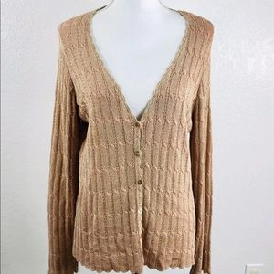 JH Collectibles Sweater SZ L Cardigan Metallic